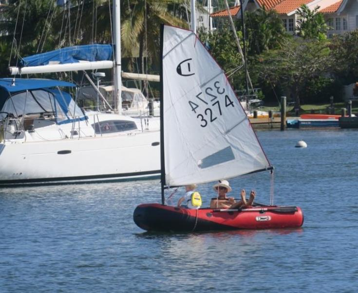 sailing inflatable dinghy
